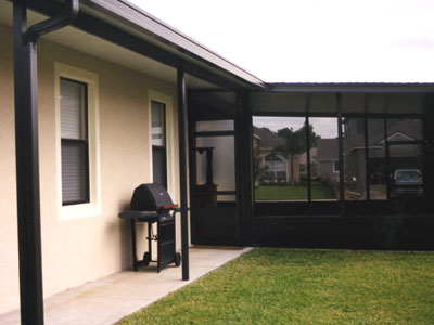 Breezeway porch cover builder oviedo and orlando florida for Breezeway screen room